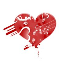 Free Gruge Red Valentine Heart Stock Images - 7032034
