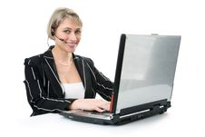 Free Business Woman Working On A Helpdesk Royalty Free Stock Photography - 7032067