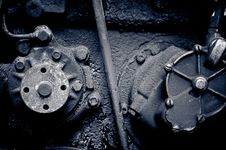 Old Diesel Engine Close-up Royalty Free Stock Photos