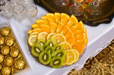Fruit And Chocolate. Royalty Free Stock Images