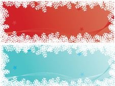 Free Set Of Two Christmas Banners Royalty Free Stock Photo - 7033105