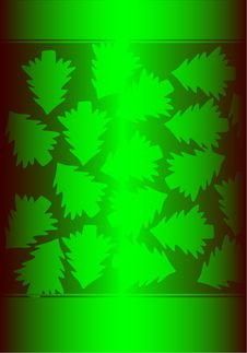 Free Green Background With Christmas Trees Royalty Free Stock Photos - 7033668