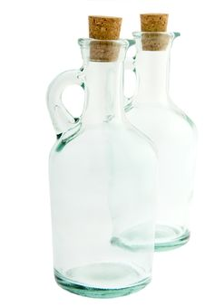 Bottle Made Of Glass With Corks Royalty Free Stock Image