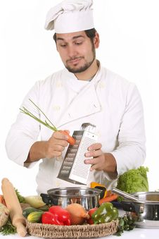 Free Young Chef Preparing Lunch Royalty Free Stock Images - 7033779