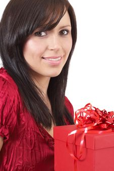 Free Portrait Of Beautiful Brunette Woman Stock Image - 7034421