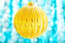 The Big Christmas Ball Stock Photo