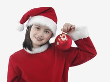 Free Little Girl With Christmas Clothes Stock Photo - 7034860