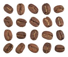 Free Coffee Beans Inner Side Cutout Royalty Free Stock Photos - 7035128