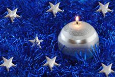 Free Christmas Candle Royalty Free Stock Images - 7035199