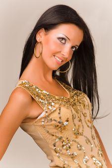 Free Smiling Sensual Girl Royalty Free Stock Photography - 7035597