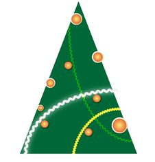 Free Illustrated Christmas Tree. Stock Photos - 7036383