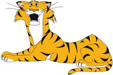 Free Resting Tiger, Scared Royalty Free Stock Photography - 7036587