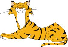 Resting Tiger, Happy Stock Images