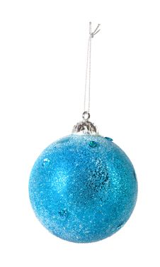 Free One Blue Christmas Ball Stock Image - 7037741