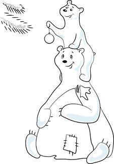 Free Polar Bears Royalty Free Stock Photos - 7037798