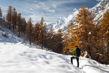 Free Winter Hiking Stock Photo - 7038310