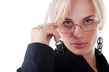 Free Young Woman In Business Suit Royalty Free Stock Photography - 7038387