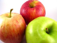 Free Three Apples Stock Photography - 7039262