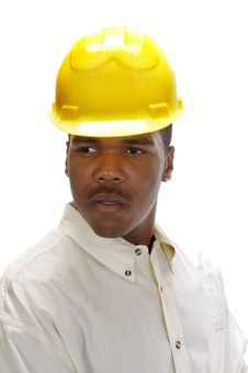 Free Young African American Contractor Stock Photo - 7039300