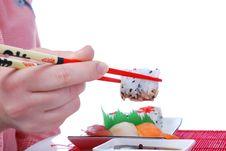 Free Sushi And Maki Royalty Free Stock Photo - 7039405