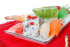 Free Sushi And Maki Royalty Free Stock Photos - 7039478