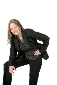 Free Eager Looking Professional Woman In Black Suit Stock Photo - 7039520