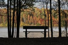 Free Fall Bench Royalty Free Stock Photos - 7039528