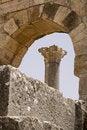 Free Roman Columns At Volubilis, Morocco Stock Images - 7040524