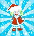 Free Christmas Girl Royalty Free Stock Photography - 7041887