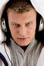 Free Man With Headphone Looking At You Stock Photography - 7042812
