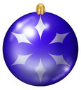 Free Blue Christmas Ball Stock Photography - 7046152