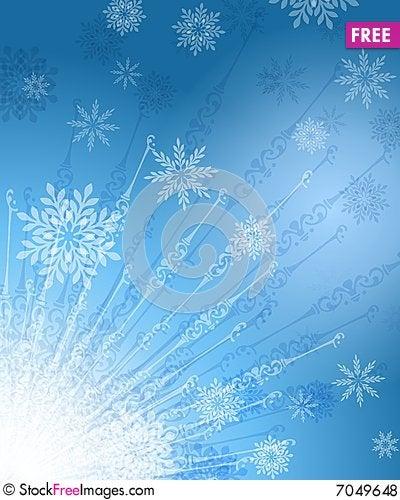 Free Radiating Snowflakes Background Royalty Free Stock Photos - 7049648