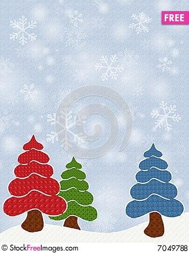 Free Textured Christmas Trees Royalty Free Stock Photos - 7049788