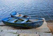 Free Blue Boat Stock Photos - 7040423