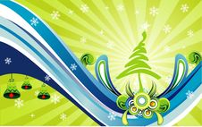 Free Vector Christmas Illustration Royalty Free Stock Images - 7040429