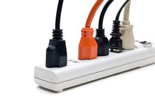 Free Plugs In A Power Strip Stock Photo - 7040570