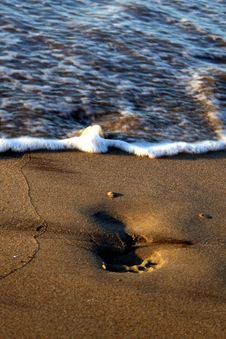 Free Footprints Washed Away Stock Photos - 7041193