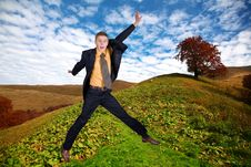 Free Man On A Hill Stock Photos - 7041343
