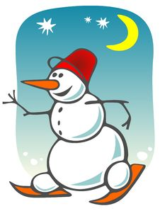 Free Cartoon Snowball Stock Photos - 7041863