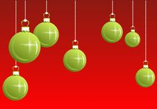 Free Green Christmas Balls Stock Photos - 7041953