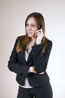 Free Pretty Girl On A Cellphone Royalty Free Stock Photo - 7042205