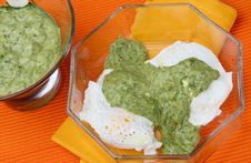 Free Salsa Verde And Cottage Cheese Sauce Royalty Free Stock Photo - 7042245