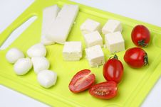 Free Different Cheeses And Tomato Stock Photos - 7042253