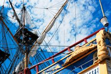 Sailing Vessel And The Sky Stock Photography