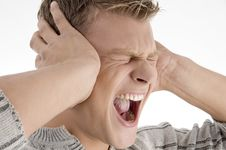 Free Screaming Young Man Stock Image - 7042541
