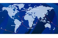Free Ocean Challenge Route Map Stock Image - 7042611