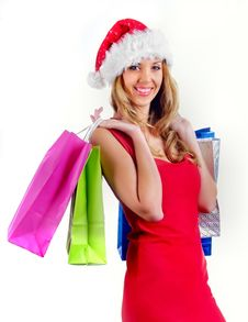 Free Santa Girl Stock Photo - 7043080