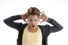 Free Shouting Young Woman Stock Photo - 7043110