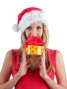 Free Santa Girl Stock Photos - 7043183