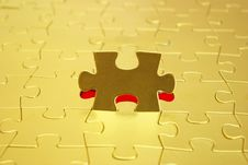 Free Gold Puzzle Royalty Free Stock Image - 7043196